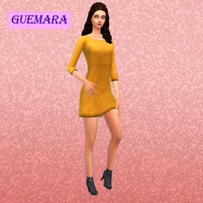 Basic winter dress at Guemara image 5620 670x670 Sims 4 Updates