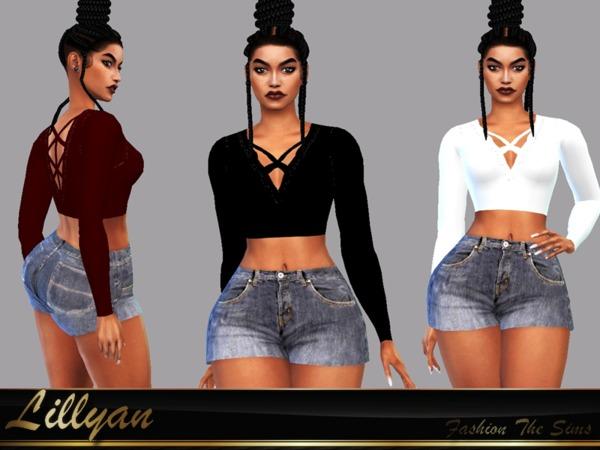 Sims 4 Top Raica by LYLLYAN at TSR