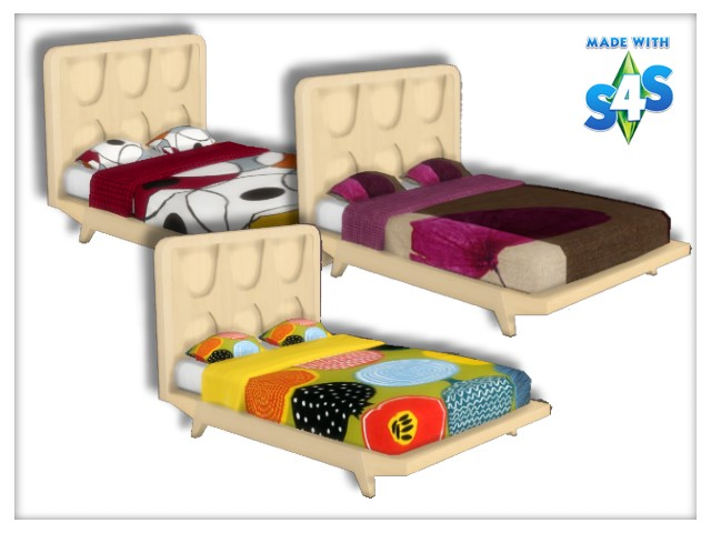 Beds recolors Get Famous by Oldbox at All 4 Sims image 5716 Sims 4 Updates