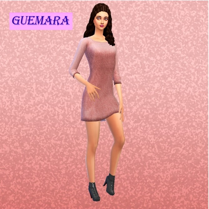 Basic winter dress at Guemara image 5720 670x669 Sims 4 Updates