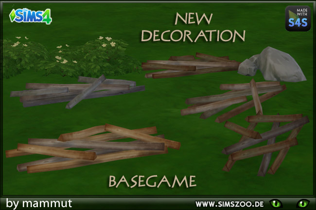 Sims 4 Woodpile by mammut at Blacky's Sims Zoo