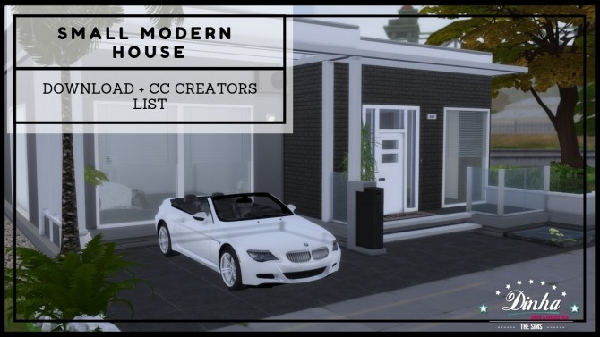 SMALL MODERN HOUSE at Dinha Gamer image 575 670x377 Sims 4 Updates