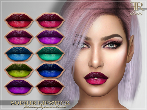 Sims 4 FRS Sophie Lipstick by FashionRoyaltySims at TSR