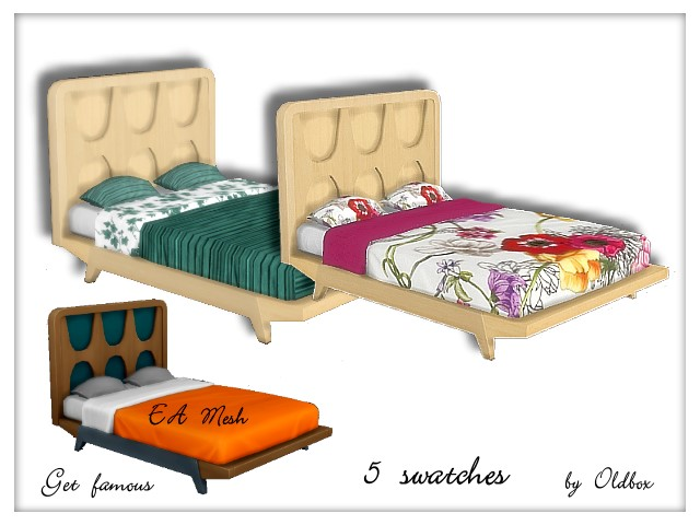 Beds recolors Get Famous by Oldbox at All 4 Sims image 5816 Sims 4 Updates