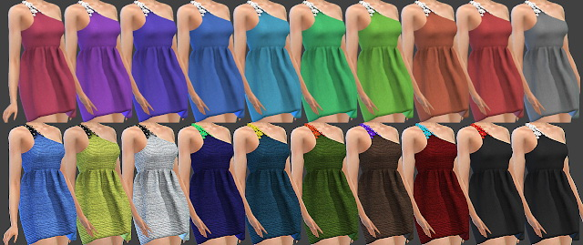 Sims 4 DRESS 67 at All by Glaza