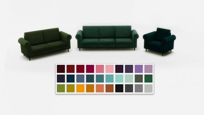 Suede seating set at Saurus Sims image 589 670x377 Sims 4 Updates