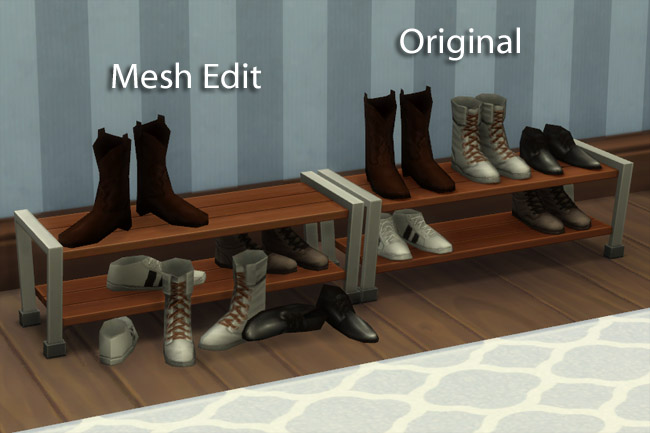 Sims 4 Shoes shelf by mammut at Blacky's Sims Zoo