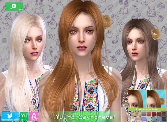 YU098 SayForever hair at Newsea Sims 4 image 5922 670x491 Sims 4 Updates