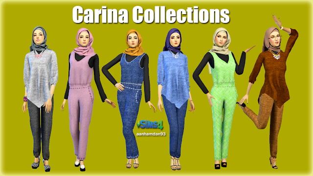 Hijab Model051 & 052 With Carina Collections at Aan Hamdan Simmer93 image 6013 Sims 4 Updates