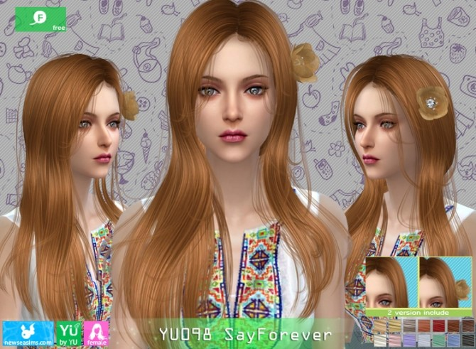 YU098 SayForever hair at Newsea Sims 4 image 6022 670x491 Sims 4 Updates
