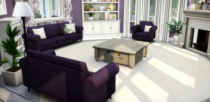 Suede seating set at Saurus Sims image 608 670x326 Sims 4 Updates