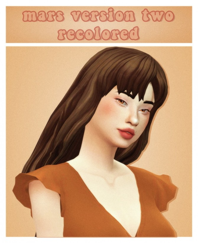 Sims 4 Simmandy mars version two hair recolours at cowplant pizza