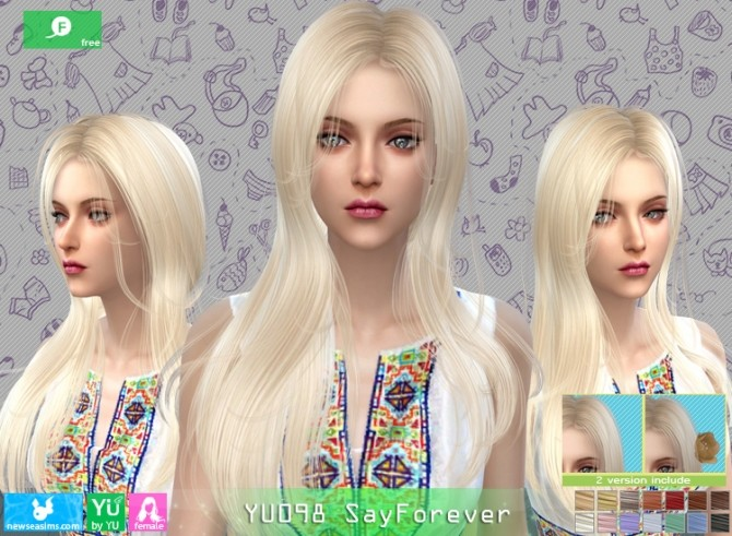 YU098 SayForever hair at Newsea Sims 4 image 6124 670x491 Sims 4 Updates