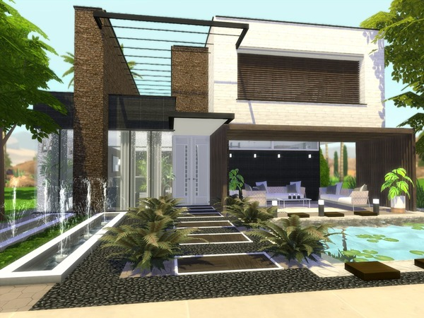 Araceli modern home by Suzz86 at TSR image 618 Sims 4 Updates