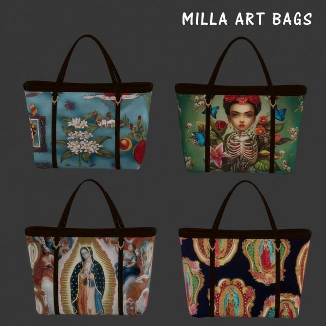 Sims 4 Art Bags at Leo Sims