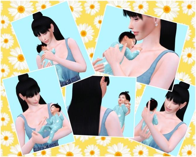 Sims 4 Happy Baby poses at Katverse