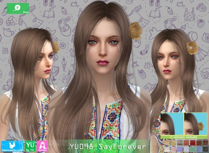 YU098 SayForever hair at Newsea Sims 4 image 6223 670x491 Sims 4 Updates