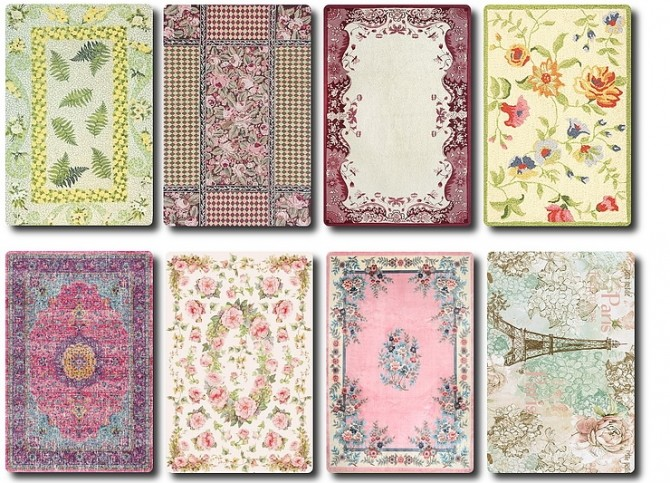 Vintage/Shabby Chic Rugs by TaTschu at Blooming Rosy image 629 670x483 Sims 4 Updates