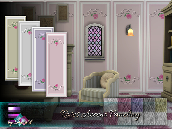 Roses Accent Paneling by emerald at TSR image 6316 Sims 4 Updates