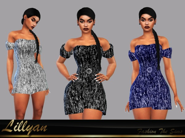 Sims 4 Mini Dress Poliana by LYLLYAN at TSR