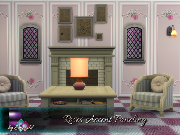 Roses Accent Paneling by emerald at TSR image 6416 Sims 4 Updates