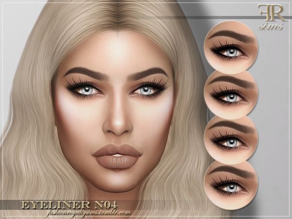 FRS Eyeliner N04 by FashionRoyaltySims at TSR image 642 Sims 4 Updates