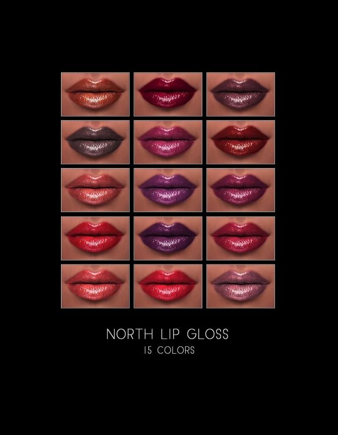 Sims 4 North Lip Gloss at FROST SIMS 4