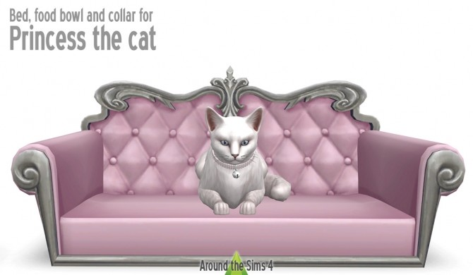 Cat/small dogbed, food bowl and collar by Sandy at Around the Sims 4 image 685 670x390 Sims 4 Updates