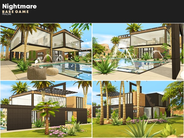 Sims 4 Nightmare house by Pralinesims at TSR