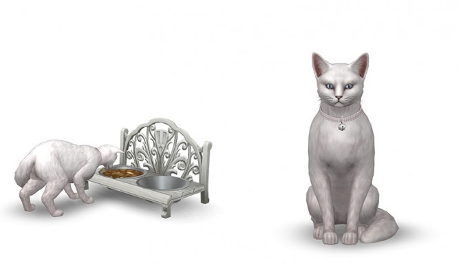 Cat/small dogbed, food bowl and collar by Sandy at Around the Sims 4 image 696 670x389 Sims 4 Updates