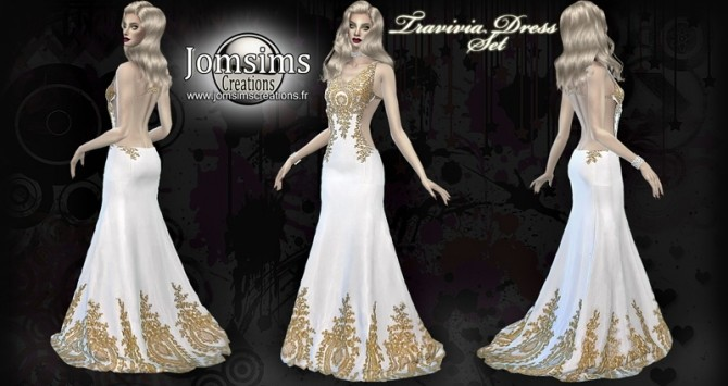 Travivia dress set at Jomsims Creations image 706 670x355 Sims 4 Updates