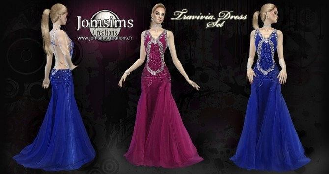 Travivia dress set at Jomsims Creations image 7111 670x355 Sims 4 Updates
