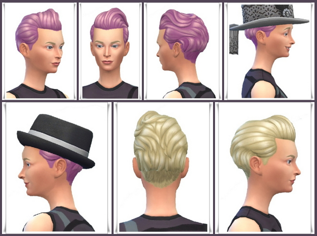 Sims 4 Tilda Mid Brush Hair at Birksches Sims Blog
