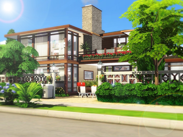 Grace house by MychQQQ at TSR image 718 Sims 4 Updates