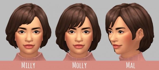 Sims 4 Milly, Mal & Molly hairs at Saurus Sims