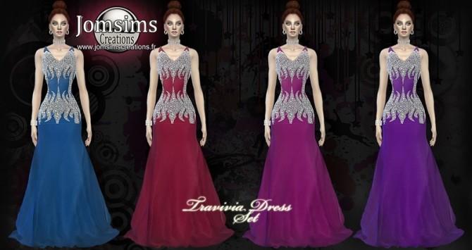 Travivia dress set at Jomsims Creations image 737 670x355 Sims 4 Updates