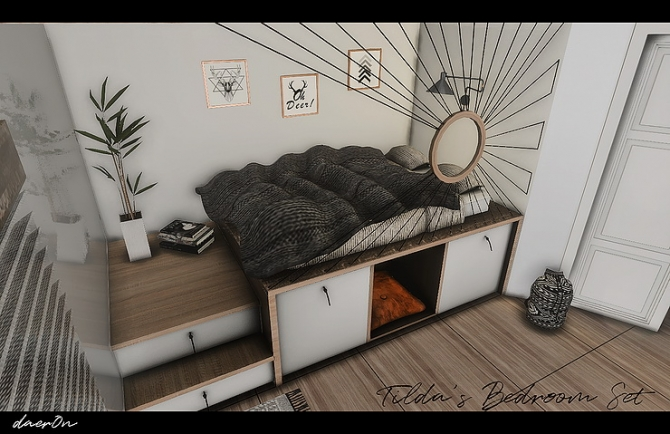 Tilda's Bedroom by daer0n at Blooming Rosy » Sims 4 Updates