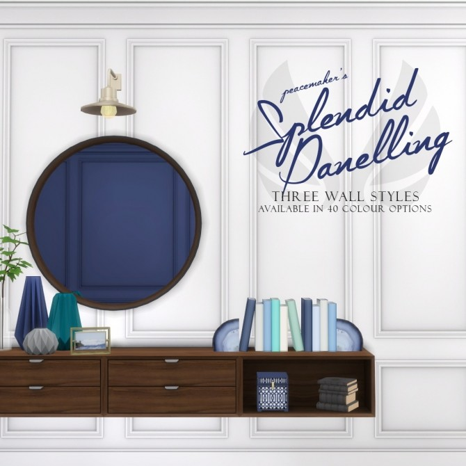 Splendid Panelling Three New Painted Wall Styles at Simsational Designs image 747 670x670 Sims 4 Updates