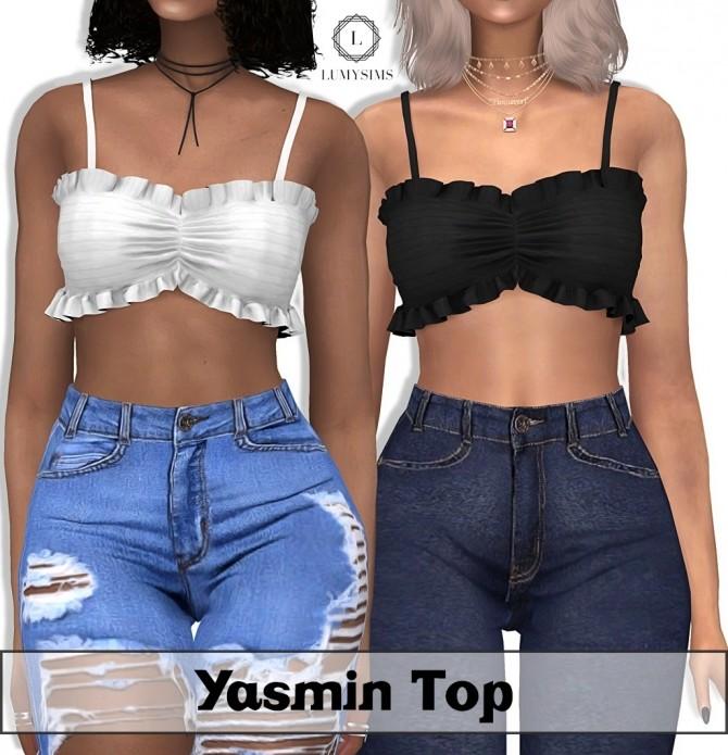 Sims 4 Yasmin Top at Lumy Sims