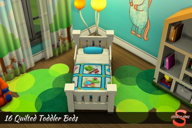 Sims 4 18 Quilted Toddler Beds at Strenee Sims