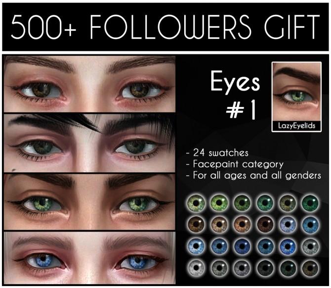 Eyes #1 at LazyEyelids image 7520 670x582 Sims 4 Updates
