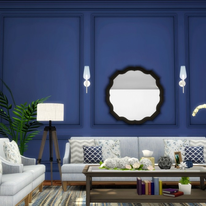Splendid Panelling Three New Painted Wall Styles at Simsational Designs image 757 670x670 Sims 4 Updates