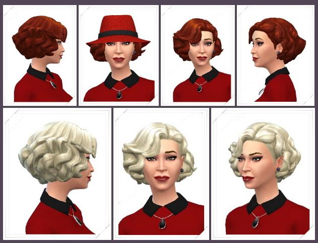Sims 4 Lazy Curls Female Hair at Birksches Sims Blog