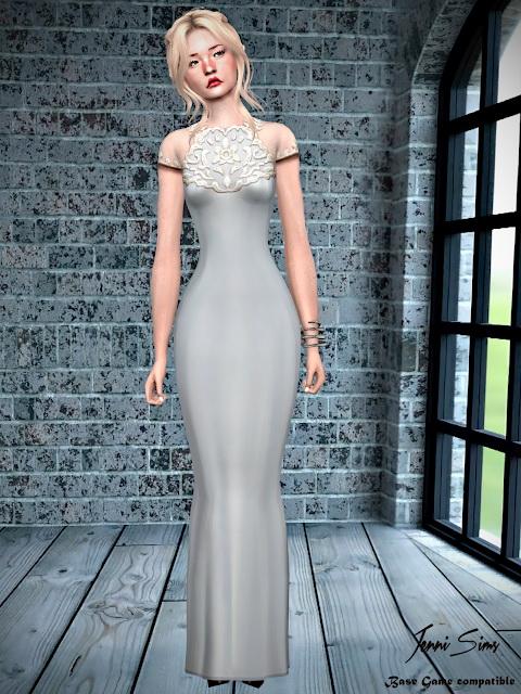 Sims 4 Evening Dress at Jenni Sims