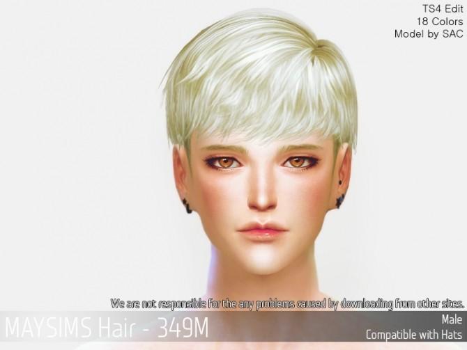 Sims 4 Hair 349M at May Sims
