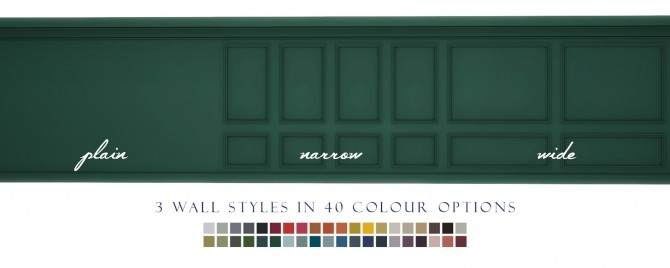 Splendid Panelling Three New Painted Wall Styles at Simsational Designs image 777 670x268 Sims 4 Updates