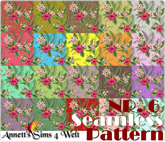 Seamless Pattern Nr. 6 at Annett's Sims 4 Welt image 781 Sims 4 Updates