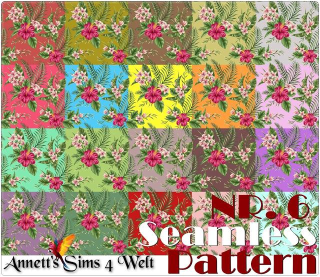 Sims 4 Seamless Pattern Nr. 6 at Annett's Sims 4 Welt