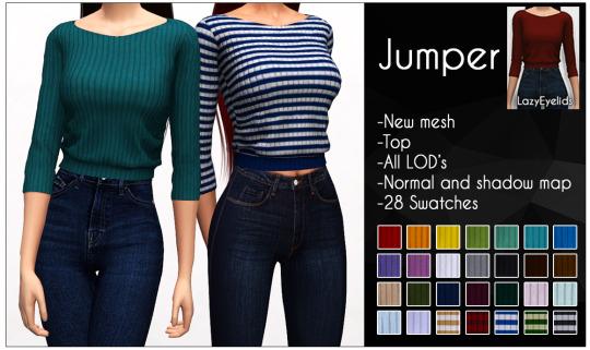 Jumper at LazyEyelids image 7820 Sims 4 Updates
