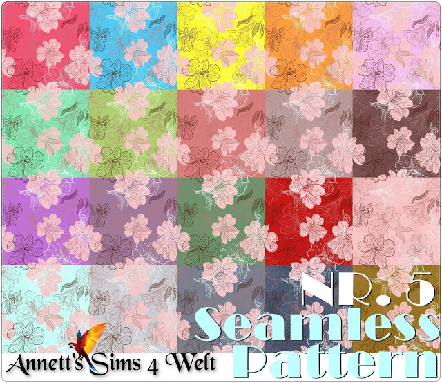 Seamless Pattern Nr. 5 at Annett's Sims 4 Welt image 791 Sims 4 Updates